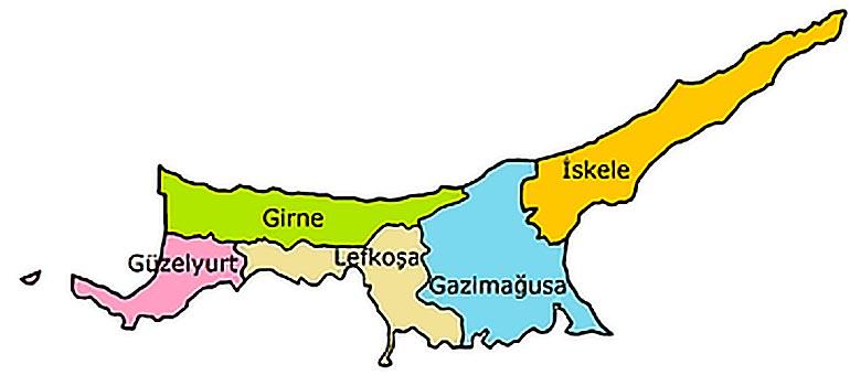 Kuzey Kıbrıs'taki Şehirler