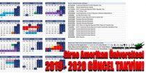 Girne amerikan üniversitesi akademik takvimi