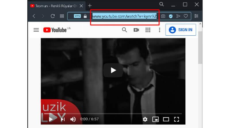 Video URLsini bulun